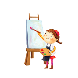 爱画画的小朋友快来 健康生活 幸福家园 绘画比赛开始啦