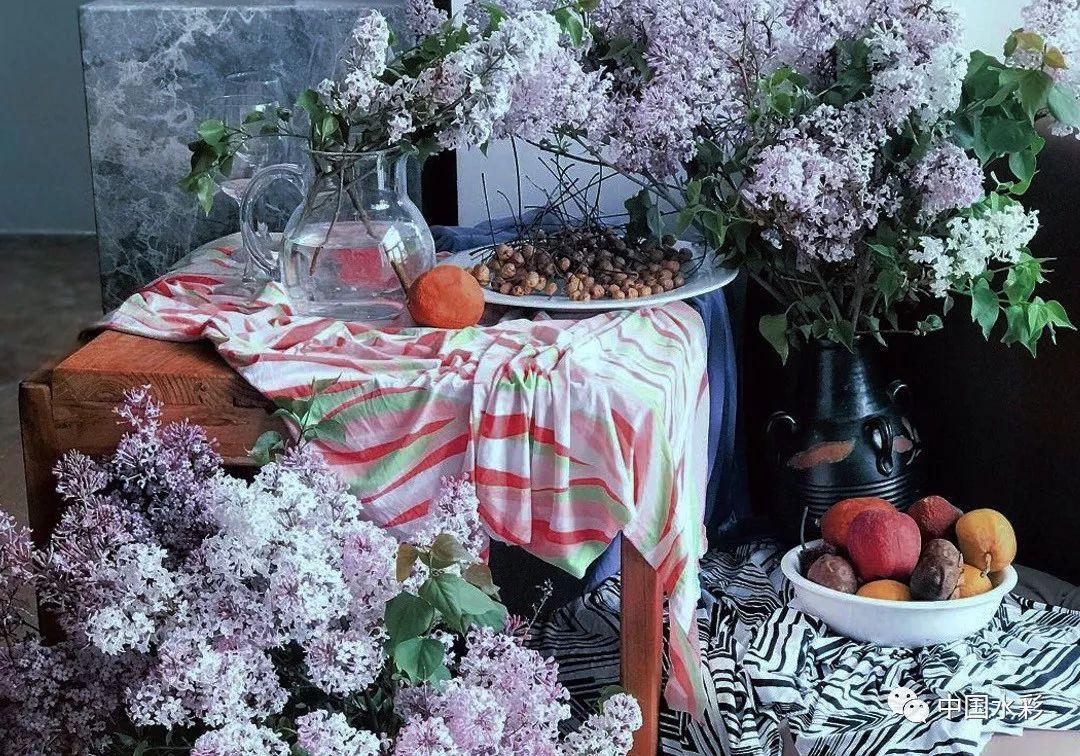 丁香|著名水彩画家赵云龙与他的《五月丁香》蔬菜来例假吃撒医生女生头条图片