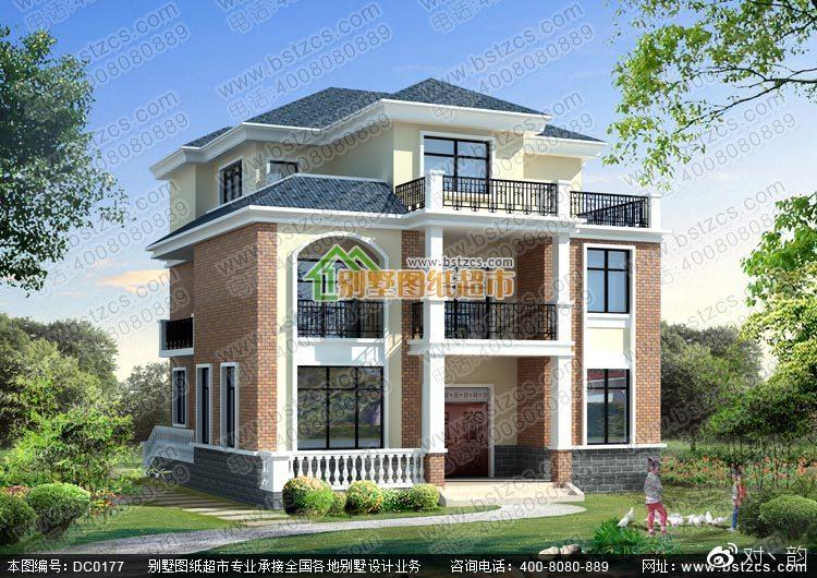 农村三层自建房屋图纸施工图_别墅设计图纸,农村房屋设计图图片