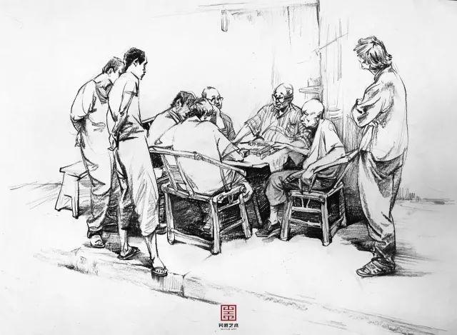 古代四川手绘场景简单