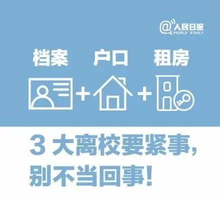 【毕业季】大学生离校3大要紧事:档案+户口+租房,别不当回事!