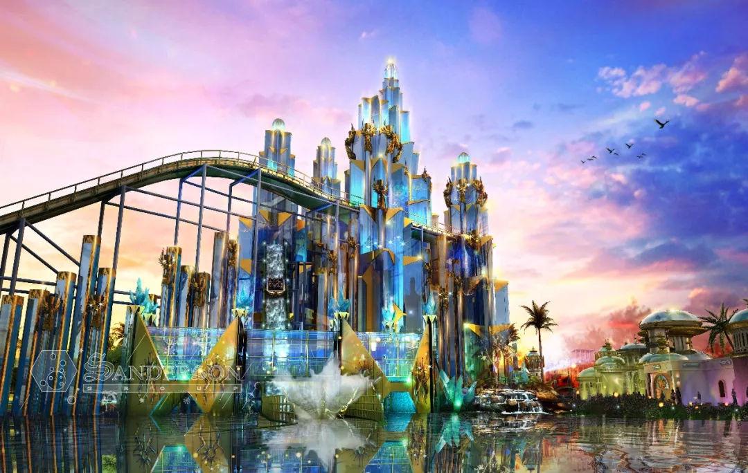 手绘效果图分享:国外主题公园设计魔幻场景