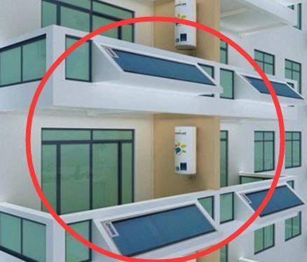 能在阳台安装的太阳能热水器图片