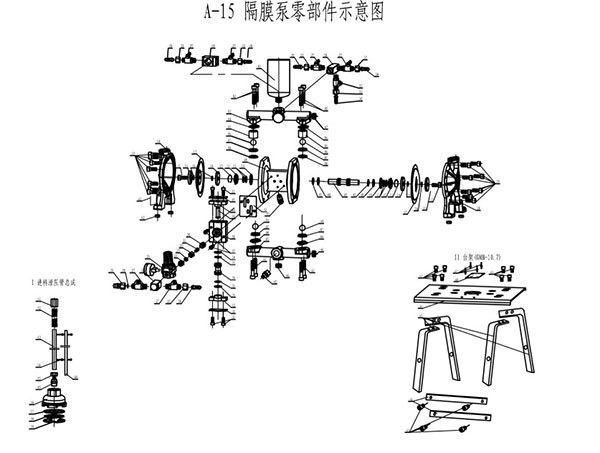 荣鹏煤矿用气动隔膜泵【专利产品】图片