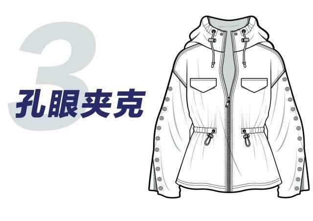 该夹克款式以纯色呈现图片