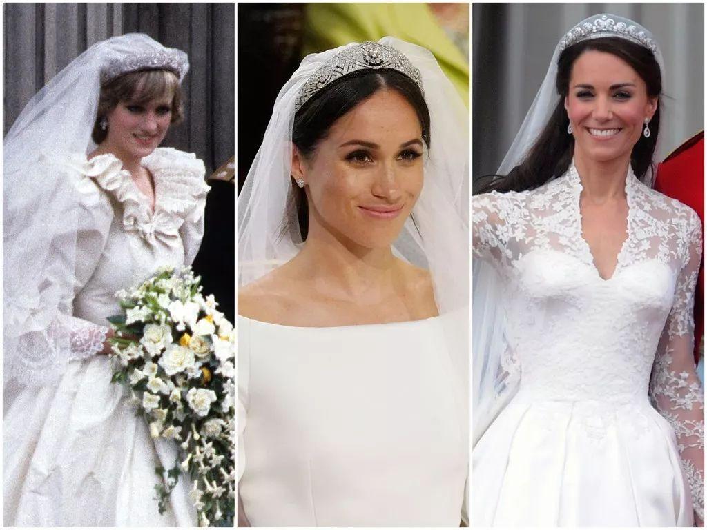 middleton)以及已逝的婆婆 戴安娜王妃(princess diana)的婚纱造型呢?
