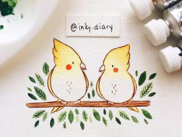 创意|水彩小动物的多样画法
