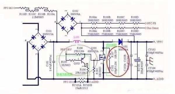 注意: 1.CS信号(采样信号):从采样电阻R25,R26拉出,注意IC的地线以采样电阻为基准,采样电阻的正负差分走线拉倒IC CS脚以及IC 的GND脚。 2.驱动信号从驱动电路拉倒IC驱动引脚,注意不要干扰到CS脚;如图走线三根线并排走,并且将地线走在驱动先和CS线中间起到一定屏蔽作用; 3.