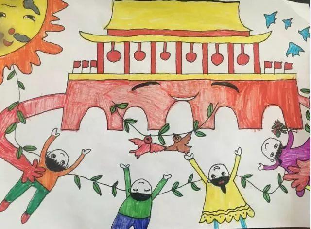 这些孩子用七色画笔,生动描绘出了爱国的模样 | 微言夜读