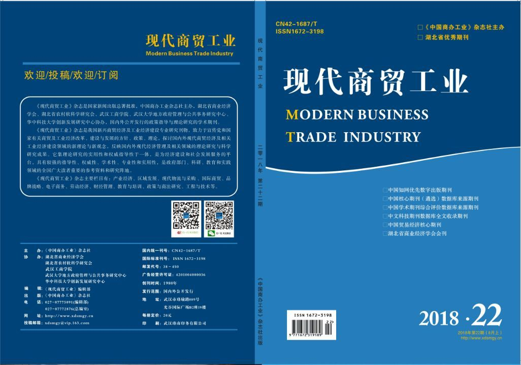 《现代商贸工业》杂志2018年22期目录抢鲜