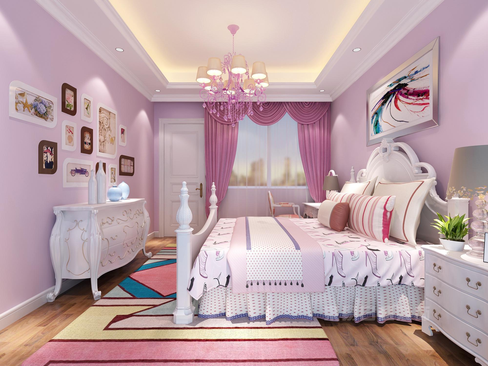 百瑞景 162㎡ 美式乡村丨粉粉水晶的公主房戳中我的少女心图片