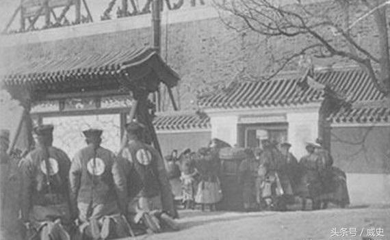 晚清慈禧和光绪逃亡后回京的罕见老照片