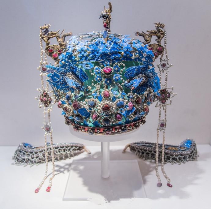 来临凤冠梦寐以求的皇后女人头饰的顶级,原图解坛竹所有图片
