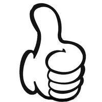 竖起大拇指简笔画,各种手势简笔画,关于人物手势的简笔画图片,怎么画竖起大拇指简笔画的画法,教宝宝学画手势动作简笔画的画法.