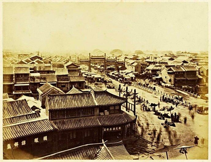 老北京的 正阳桥 五牌楼历史老照片