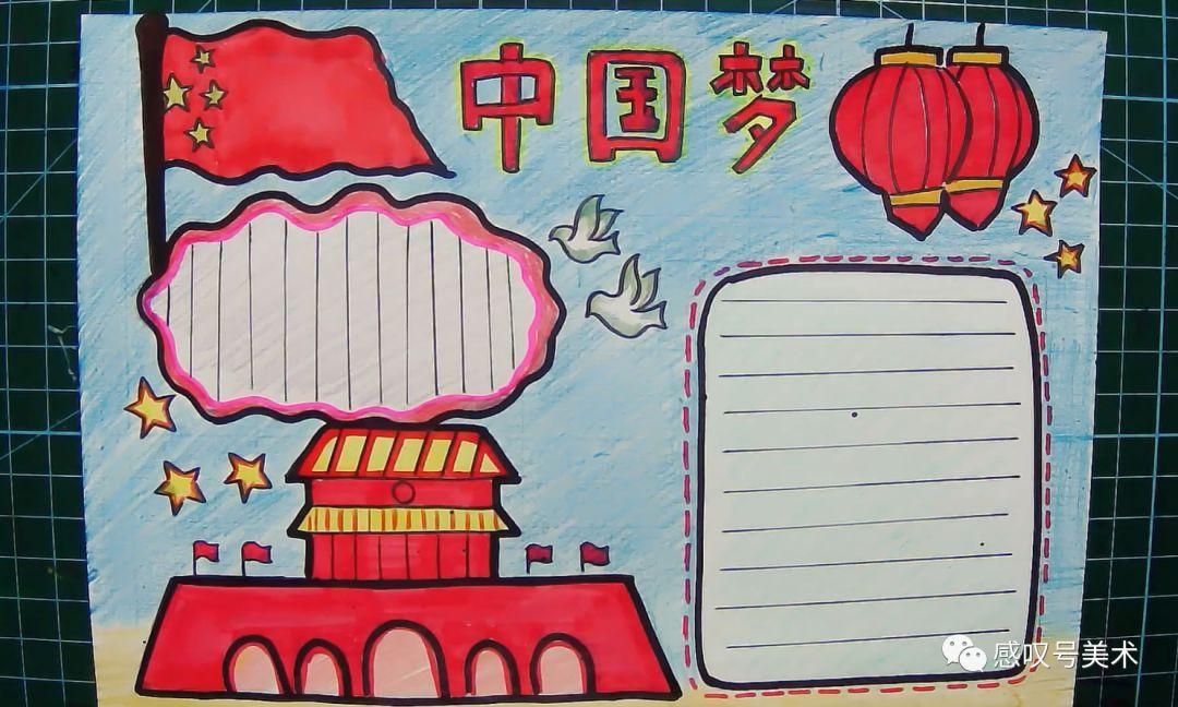 中国梦主题手抄报 不忘初心 牢记使命图片