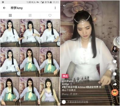 在抖音海外版 中國女生用漢服加民樂征服外國人
