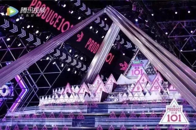腾讯视频《创造101》金字塔等级舞台