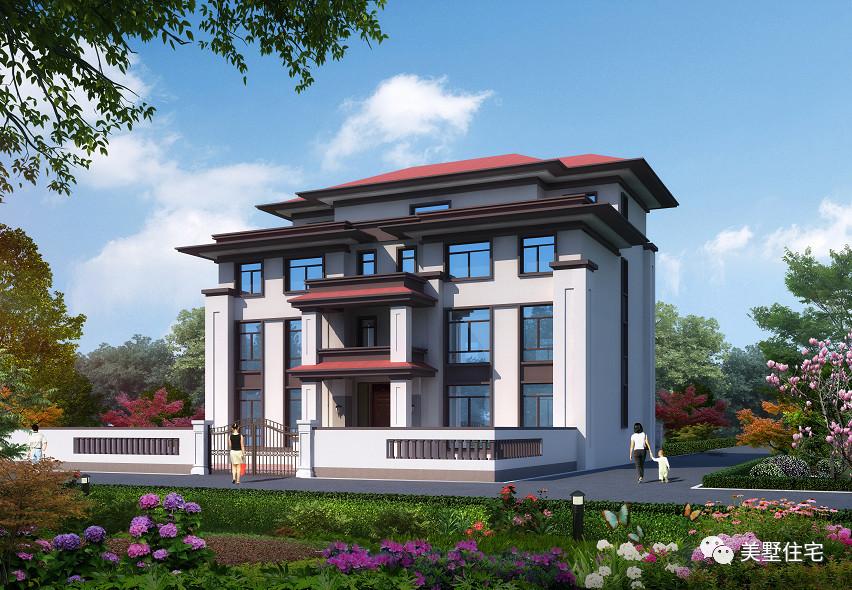 值得这款新中式别墅,全家人把攒了20年的钱都看到来,拿出?韶山别墅区图片