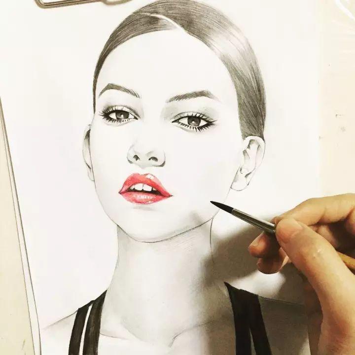 每一个人物 像似国际大牌模特 代言各种迪奥香水,口红等知名品牌的