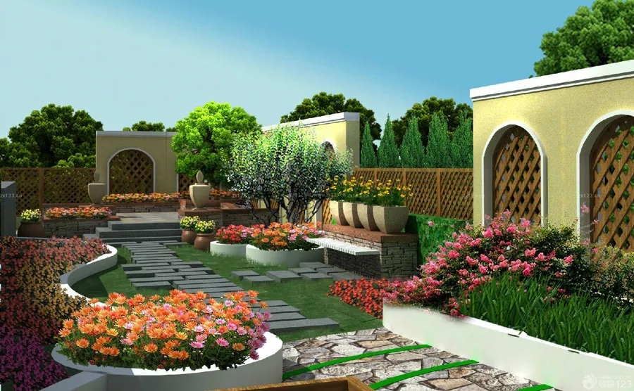 农村小院花园设计图片