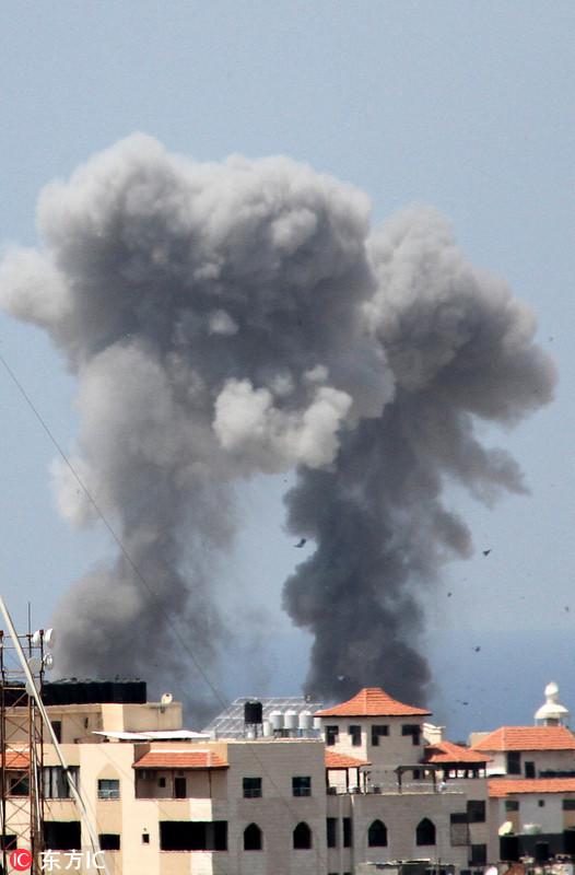 以色列空袭加沙地带_以色列空袭加沙地带 报复该国南部遭炮击
