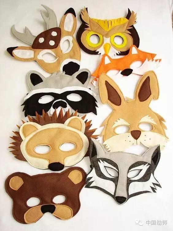 手绘老虎面具图片