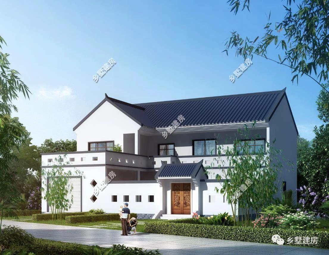 农村盖房要选就选新中式合院,粉墙黛瓦,农村建房好好户型!图片