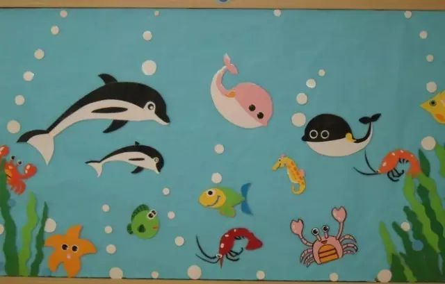 【手工立体画画】一位妈妈活活被幼儿园手工作业《海底世界立体画》