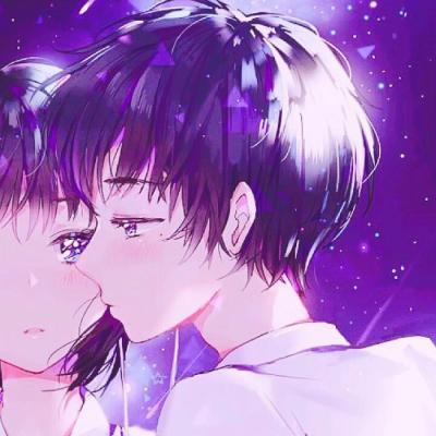 抖音情侣亲吻动漫头像