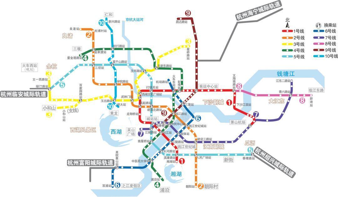 """2021年底,杭州地铁将""""十线齐开""""!杭州湾交通大升级!图片"""
