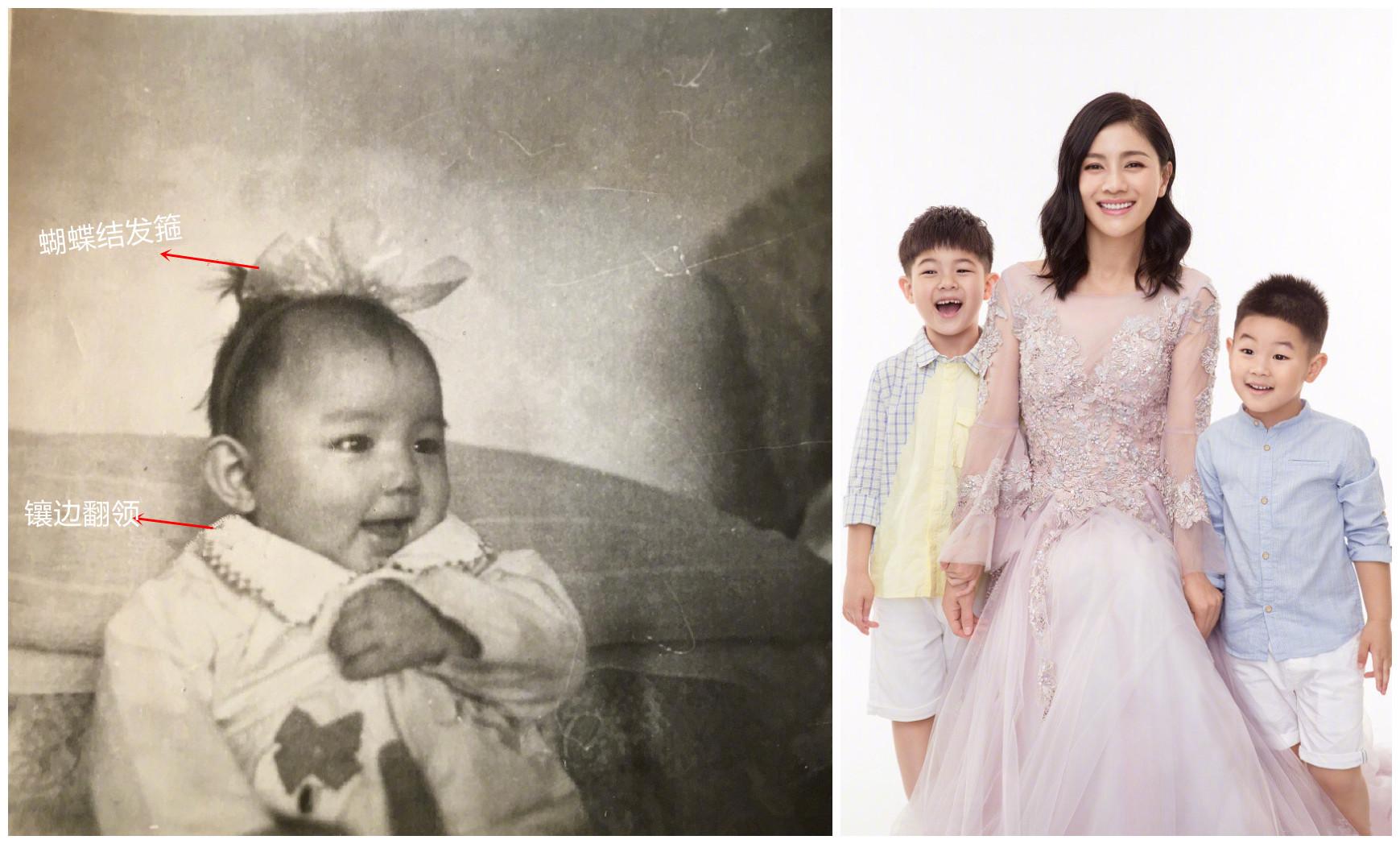 明星同晒童年照,真是想不到十几年前的她们穿得竟如此时髦
