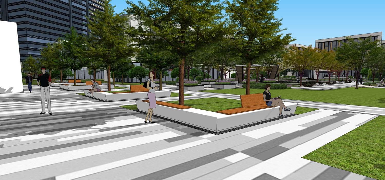 城市居住区景观设计案例 天安智谷高层居住区