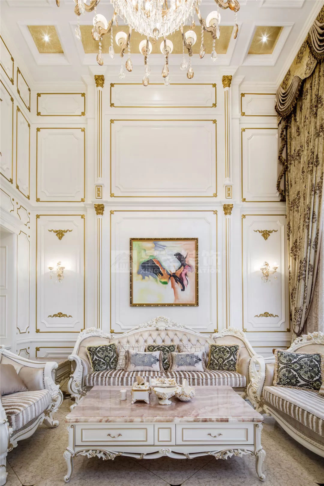 实景】乐湾国际550平法式别墅 典雅佩斯利紫营造出的柔美家