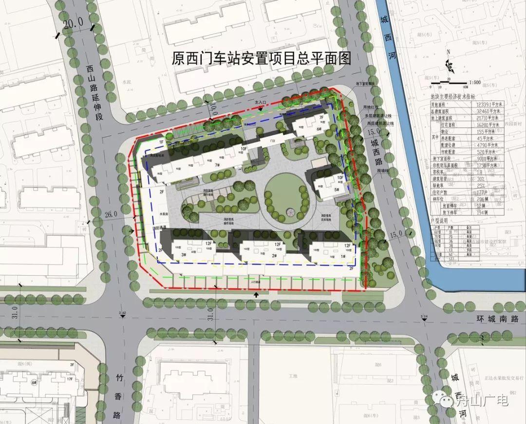 原西门车站项目总平面图