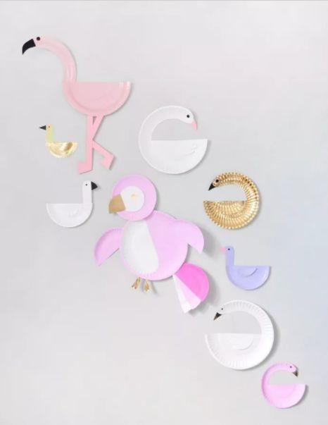 蛋糕盘天鹅和小动物 制作步骤图解
