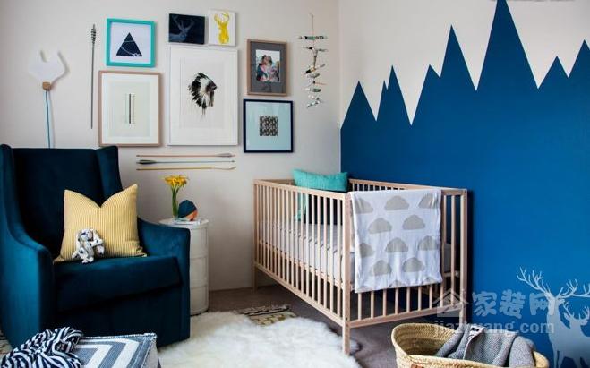 富有创意的儿童房手绘墙装饰,为孩子创造美好成长环境