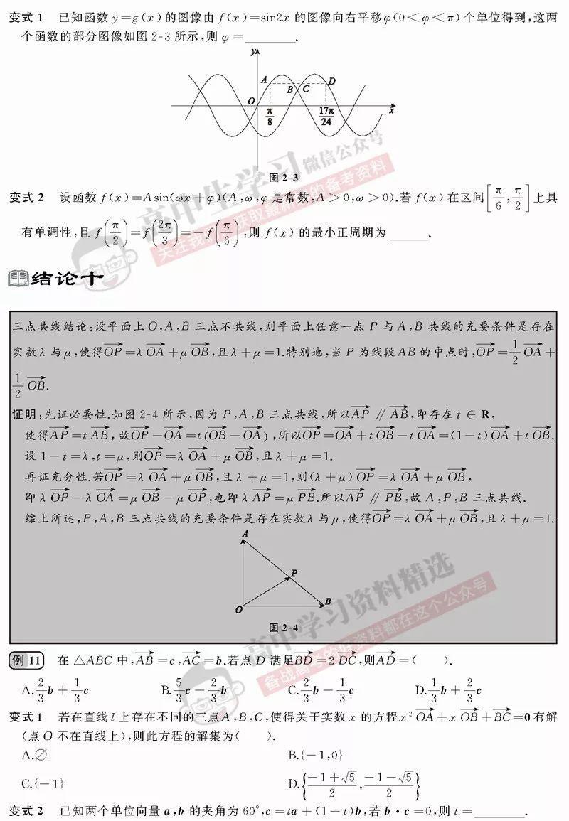 高考数学想节省答题时刻?这些常用二级结论必需知道! (可领电子(责编保举:数学向导jxfudao.com/xuesheng)