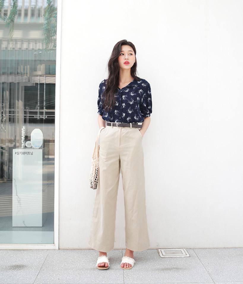 矮个子女生夏季穿衣搭配 高腰阔腿裤让你轻松拥有大长腿17 作者:千叶老师 帖子ID:2560