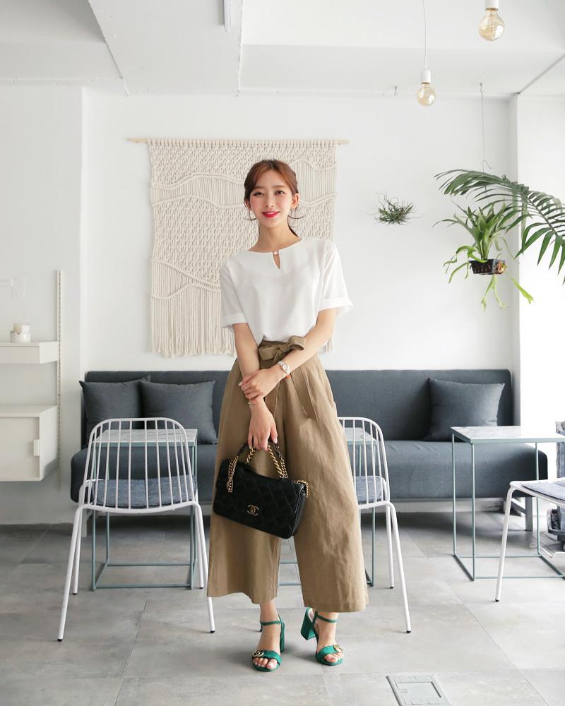 矮个子女生夏季穿衣搭配 高腰阔腿裤让你轻松拥有大长腿35 作者:千叶老师 帖子ID:2560