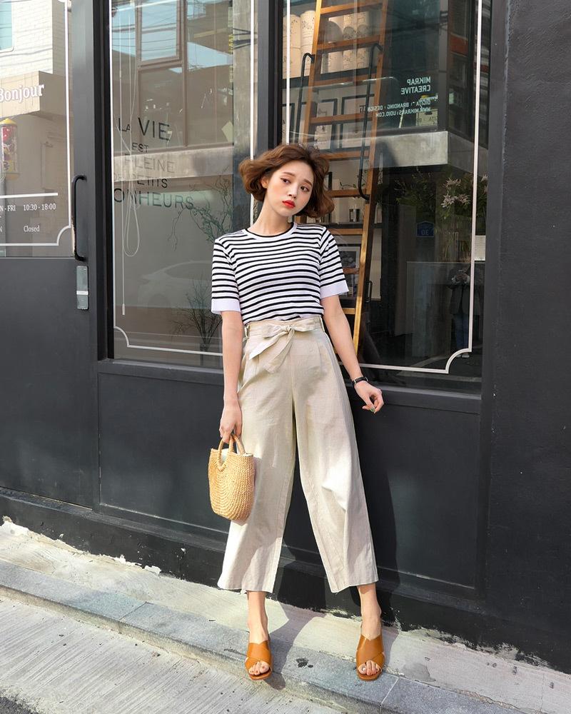 矮个子女生夏季穿衣搭配 高腰阔腿裤让你轻松拥有大长腿38 作者:千叶老师 帖子ID:2560