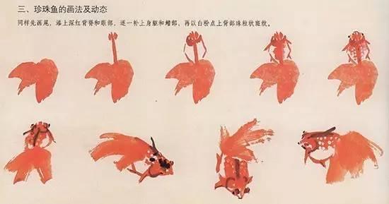 国画金鱼的画法,简易通图片
