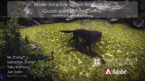 超酷的神經網絡合成動物運動動畫,解救動畫師!(程式碼開源+視訊)