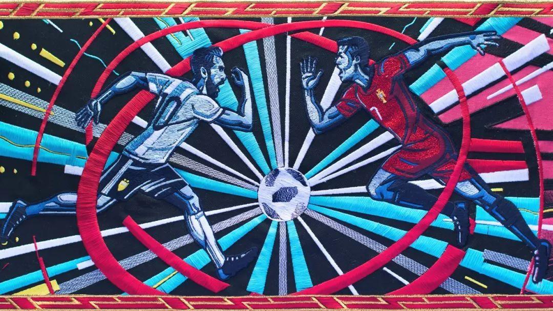 【動漫】燃!用刺繡做成的動畫,BBC另類世界盃宣傳片