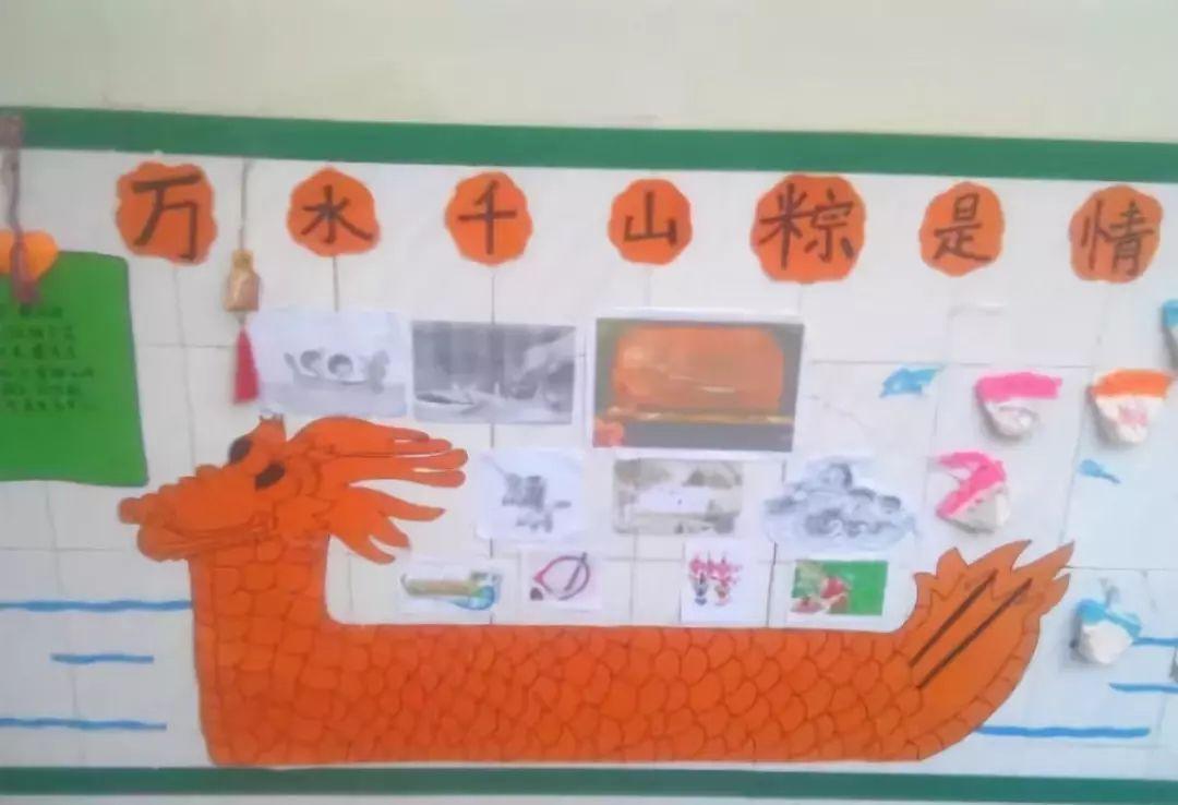 们了解端午节 独特的习俗和丰富的文化内涵,在幼儿园环创主题墙设计中