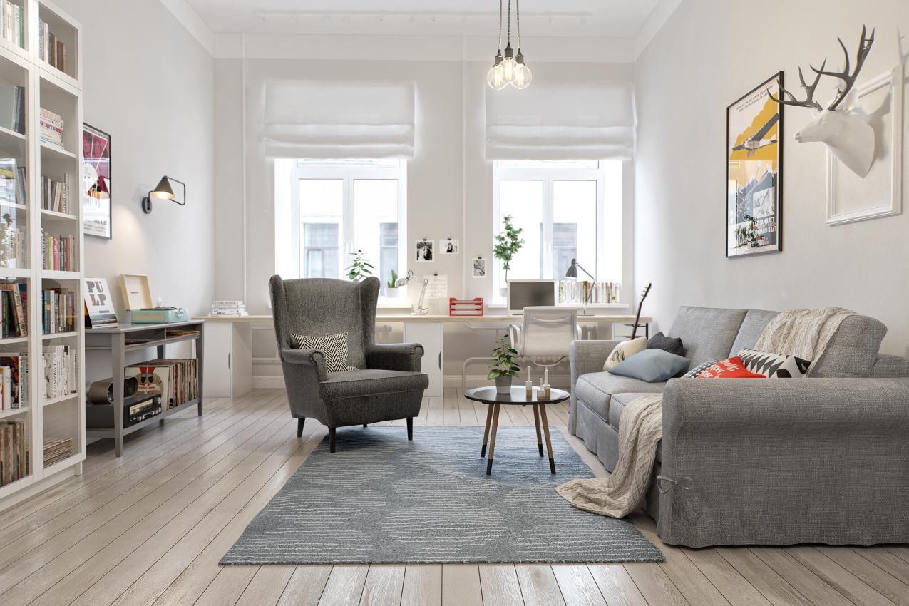小户型北欧风格装修,对家人的爱能看见.