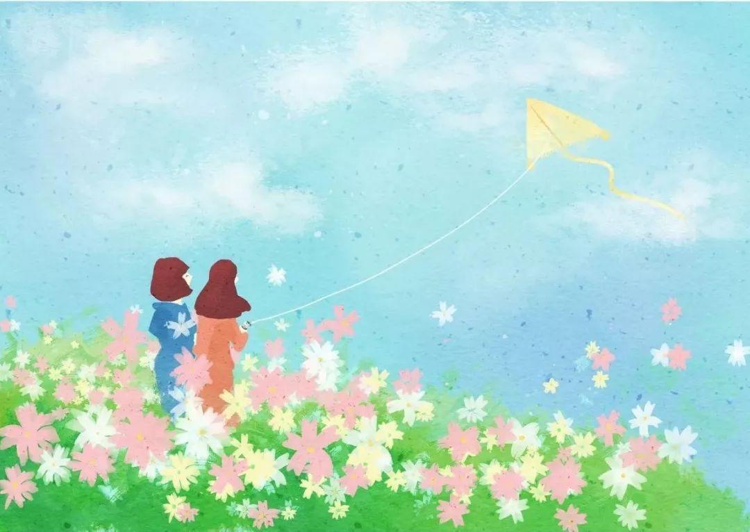春天一到,放风筝成为了必不可少的户外活动呢,看着小孩子们,情侣们互