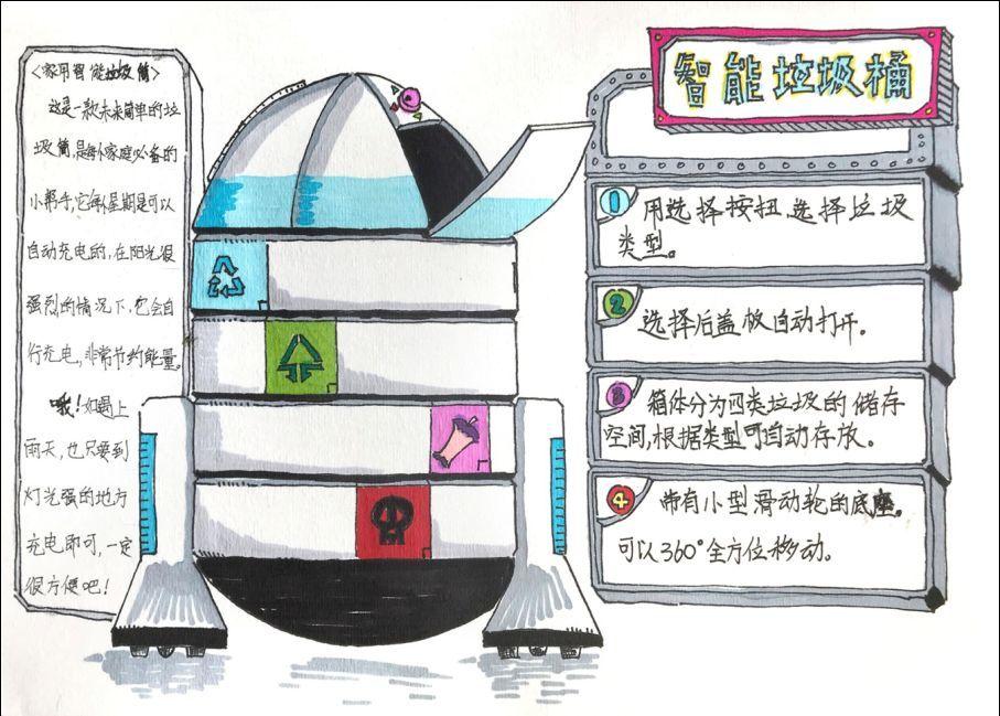 教育 正文  拱墅区围绕垃圾分类工作,重点突出创意垃圾桶设计活动.图片