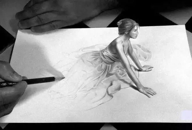 惊叹 大师笔下的铅笔画 3D又魔幻的佳作
