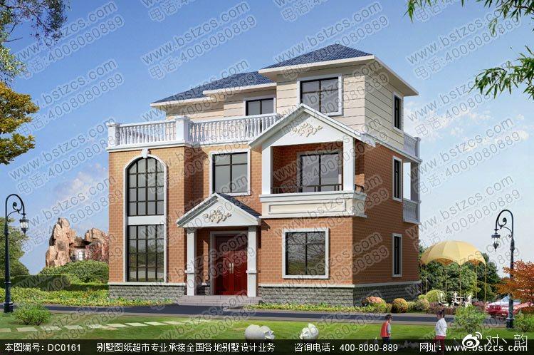 三层带露台别墅设计图纸效果图及施工图